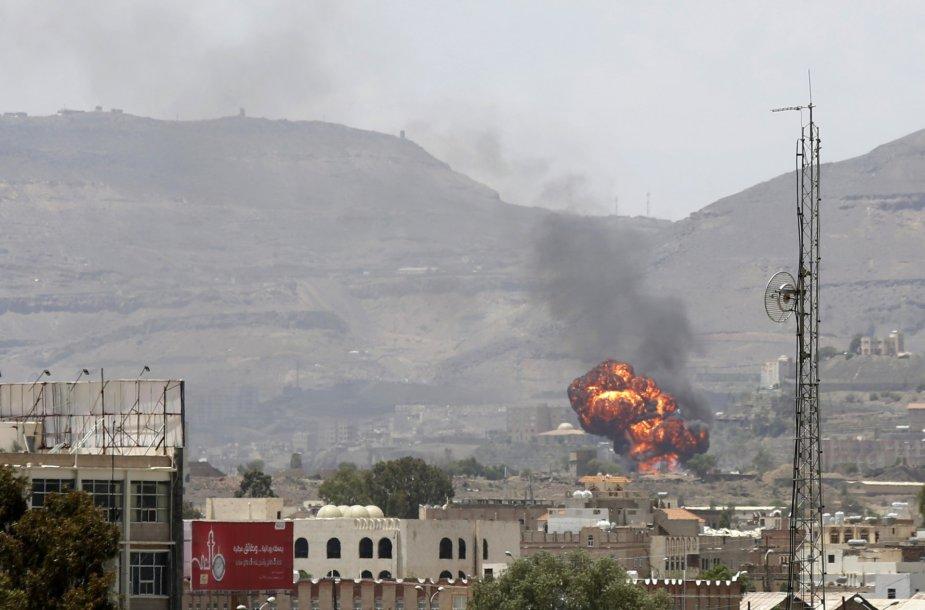 Bombarduojama Jemeno sostinė Sana