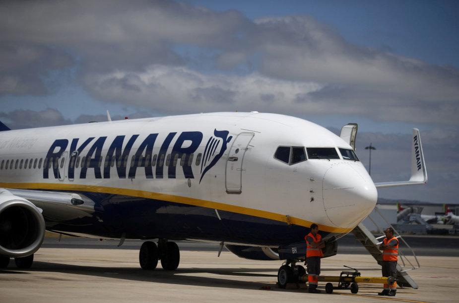 Kompanijos Ryanair lėktuvas.