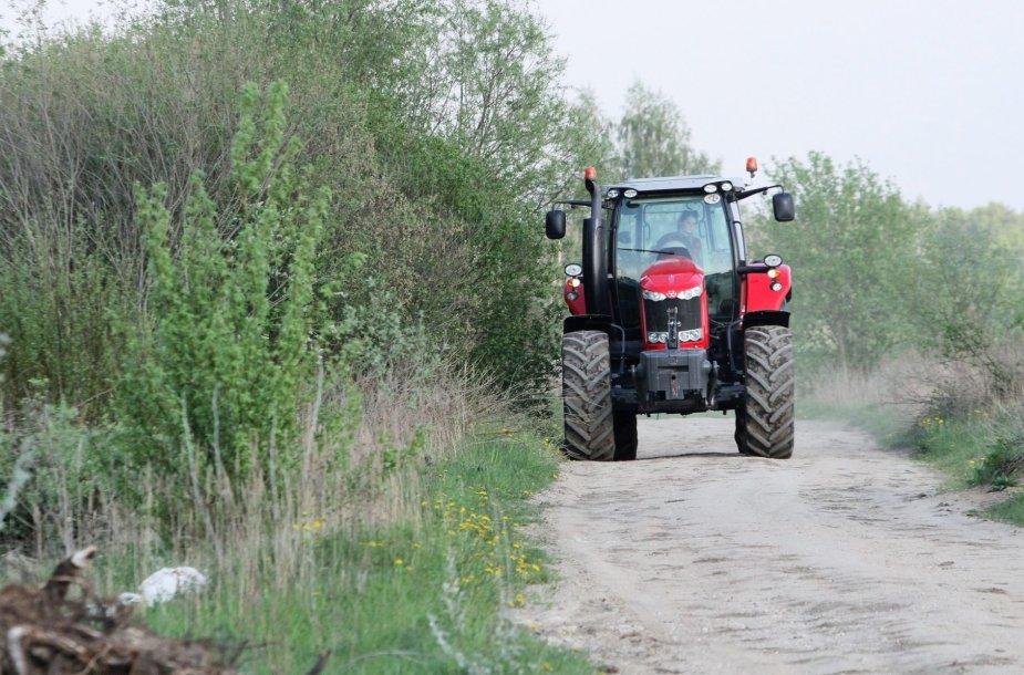 Devyniolikmetė Monika kone kasdien vairuoja traktorių