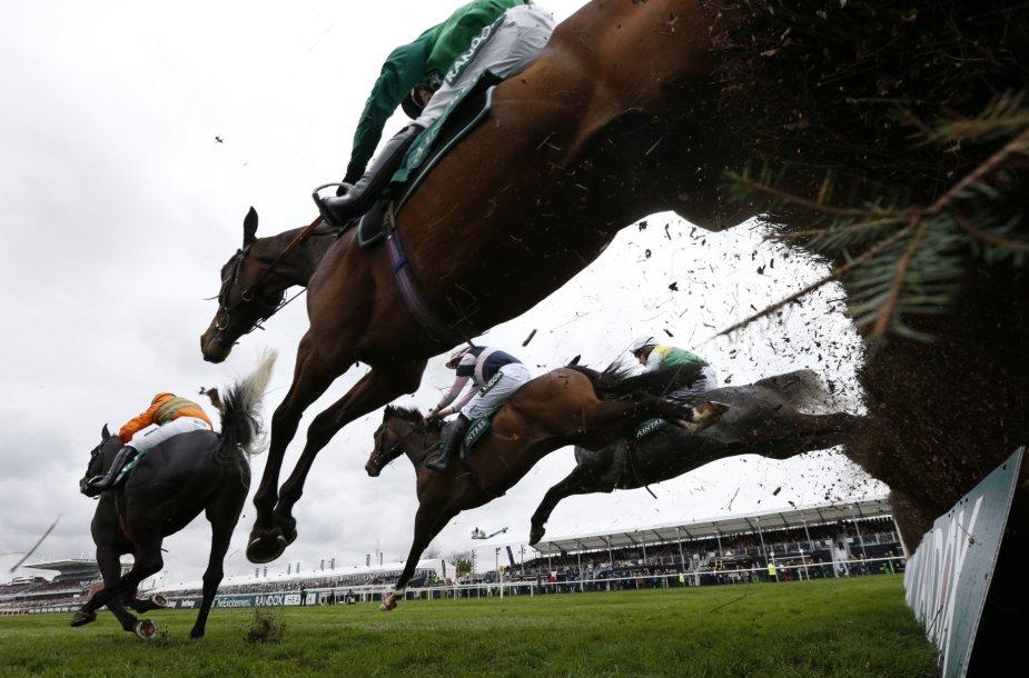 Britų stilius Didžiosiose nacionalinėse žirgų lenktynėse Liverpulyje