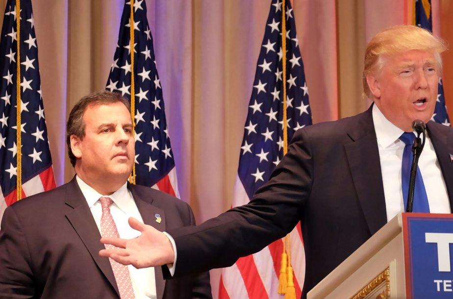 Chrisas Christie ir Donaldas Trumpas