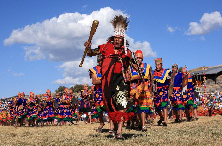 Inti Raymi tradicijos siekia dar Inkų imperijos laikus