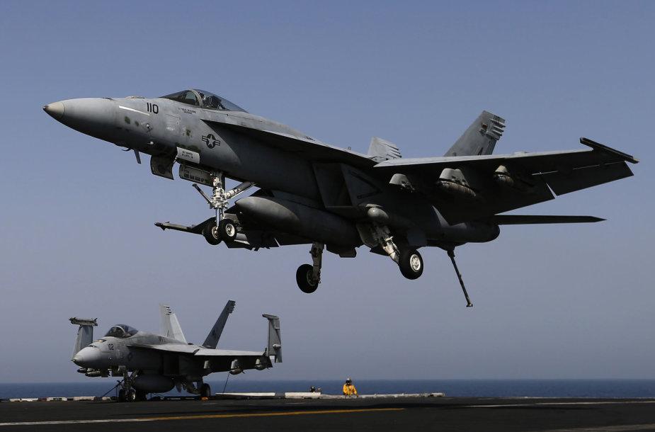 "Susidūrė du lėktuvai ""F/A-18 Hornet"""
