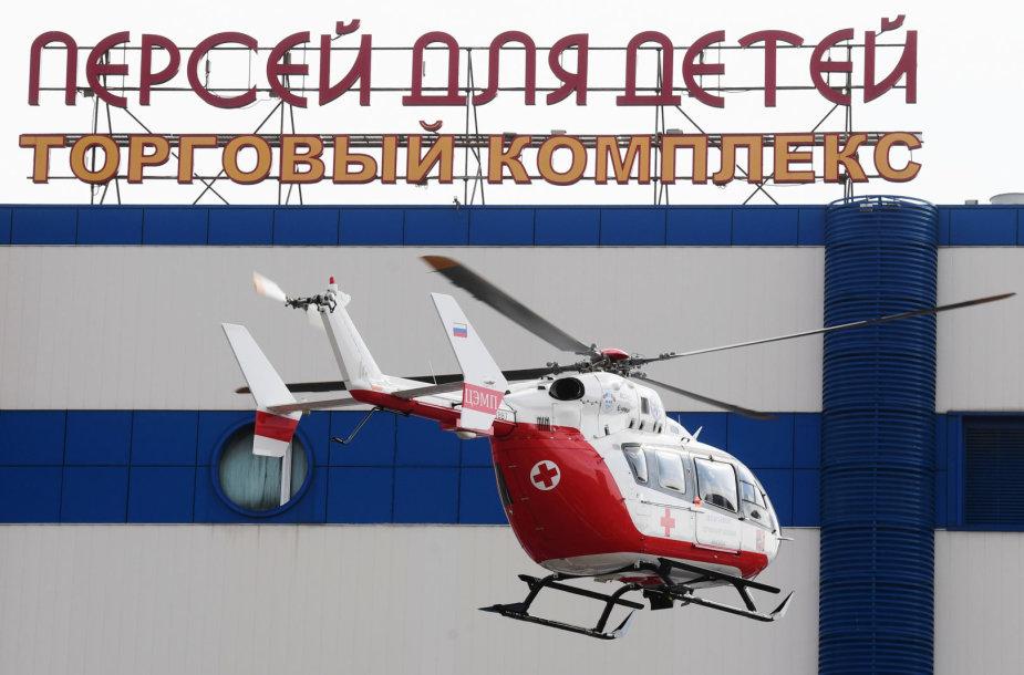 """Gaisras prekybos centre """"Persėjas vaikams"""" Maskvoje"""
