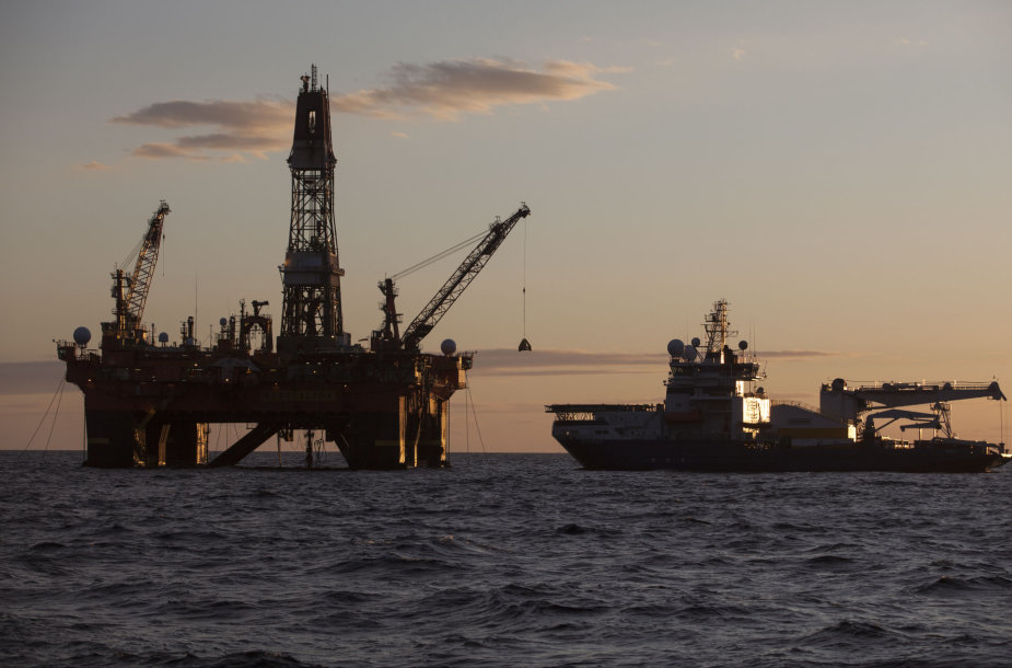 """Rosneft"" naftos gavybos platforma Karos jūroje"