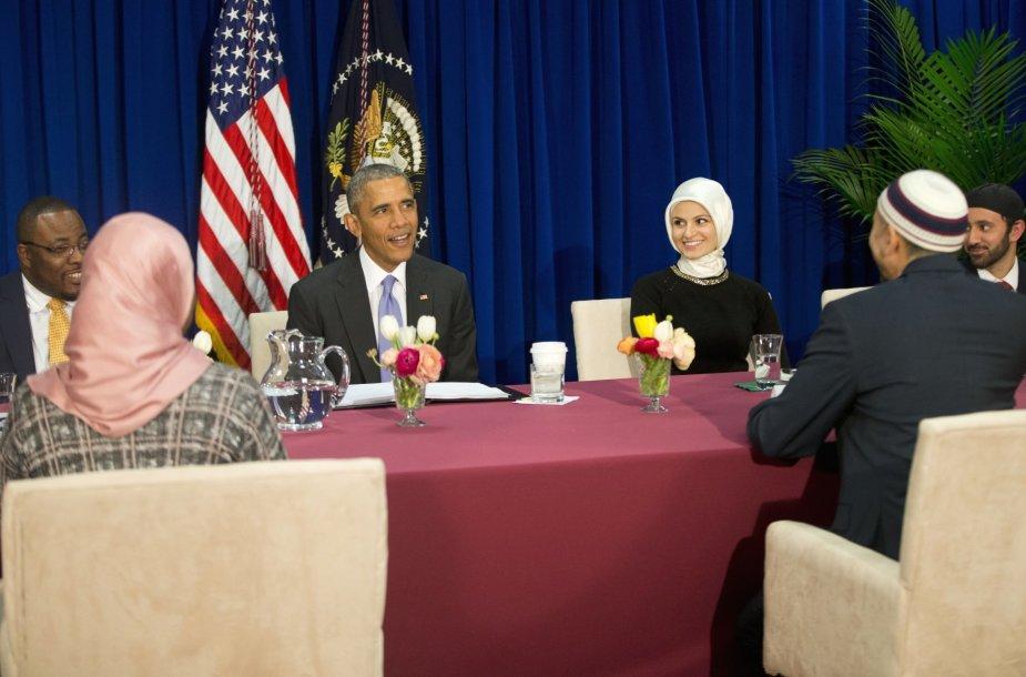 Barackas Obama JAV mečetėje