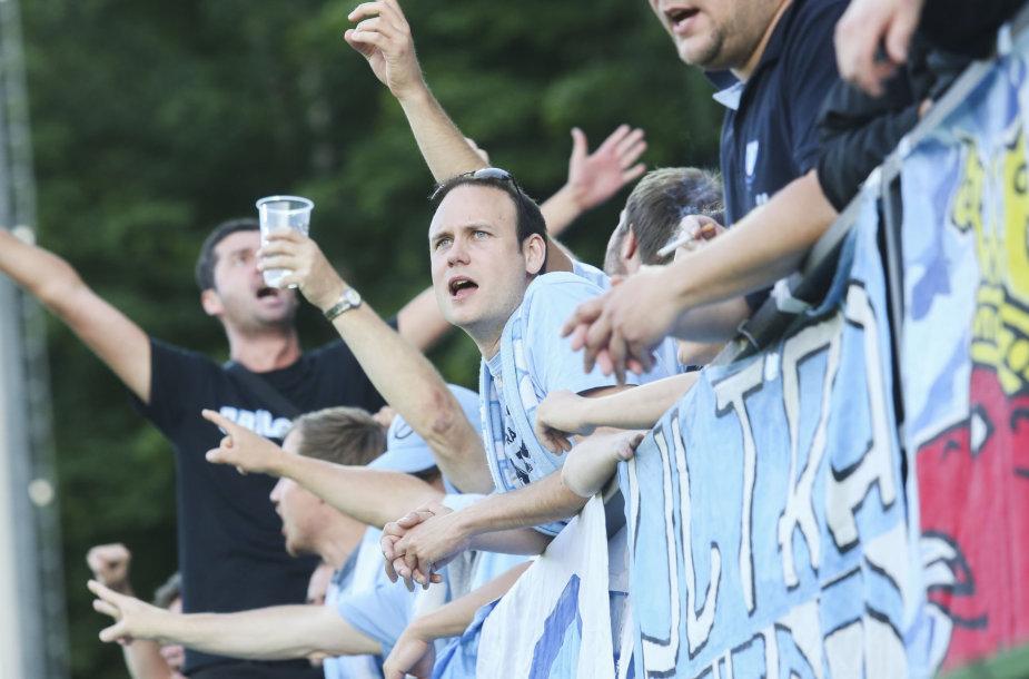 """""""Žalgirio"""" ir """"Malmo"""" sirgaliai užpildė LFF stadioną"""
