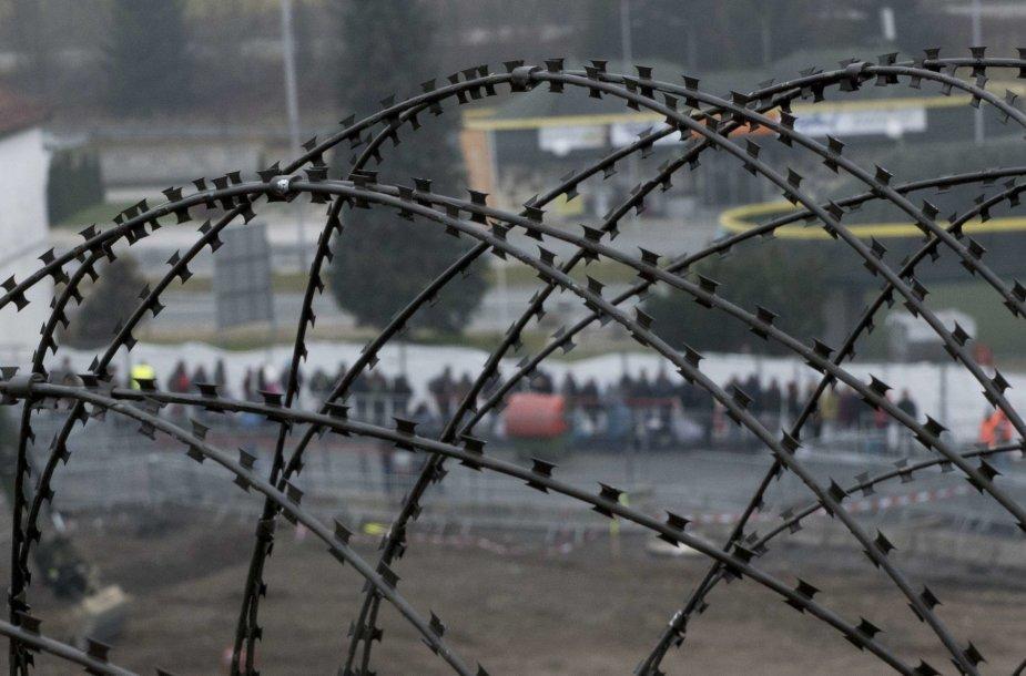 Slovėnijos pastatyta tvora