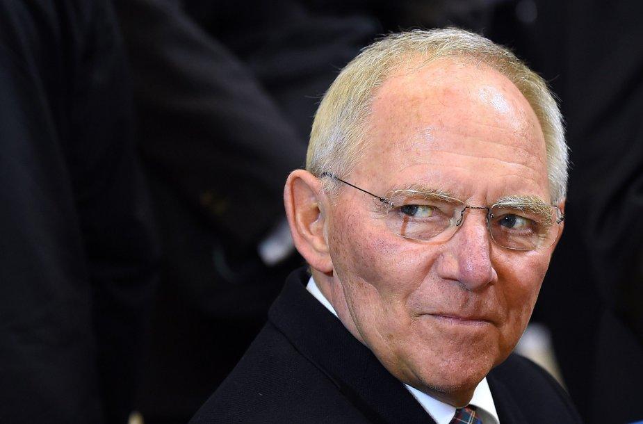 Vokietijos finansų ministras Wolfgangas Schauble