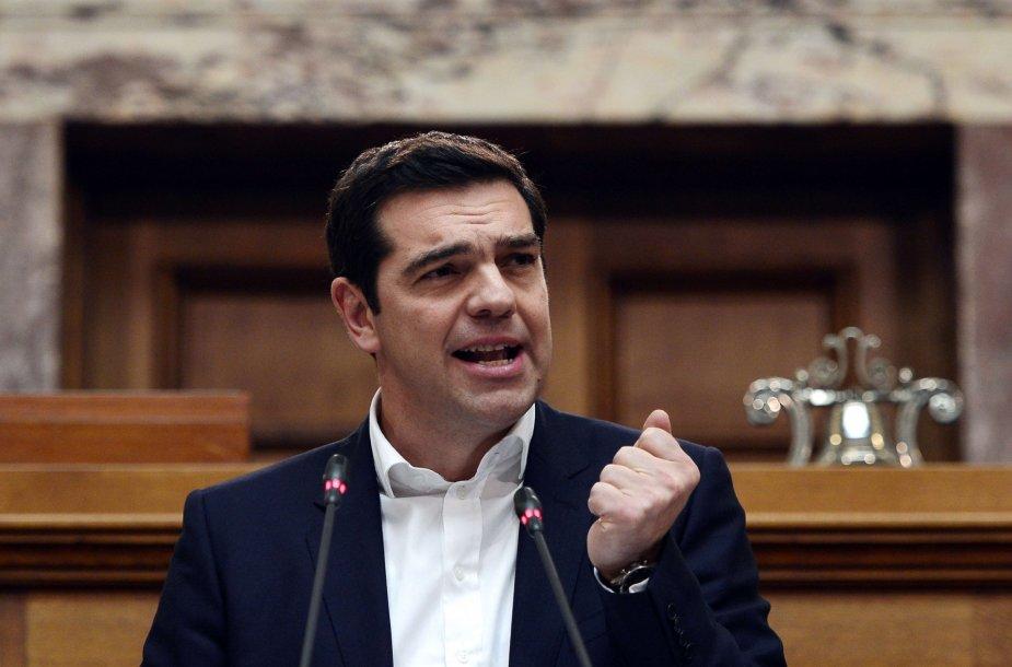 Graikijos premjeras Aleksis Cipras.