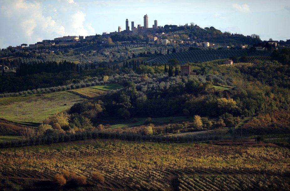 Kaimas Italijos Toskanijos regione