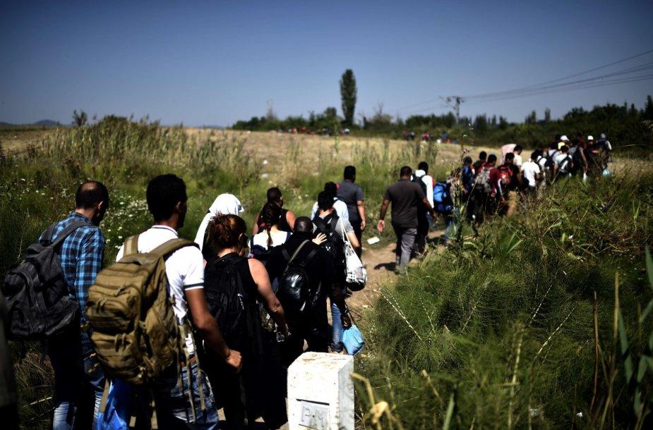 Pabėgėliai patekę į Serbiją iš Makedonijos