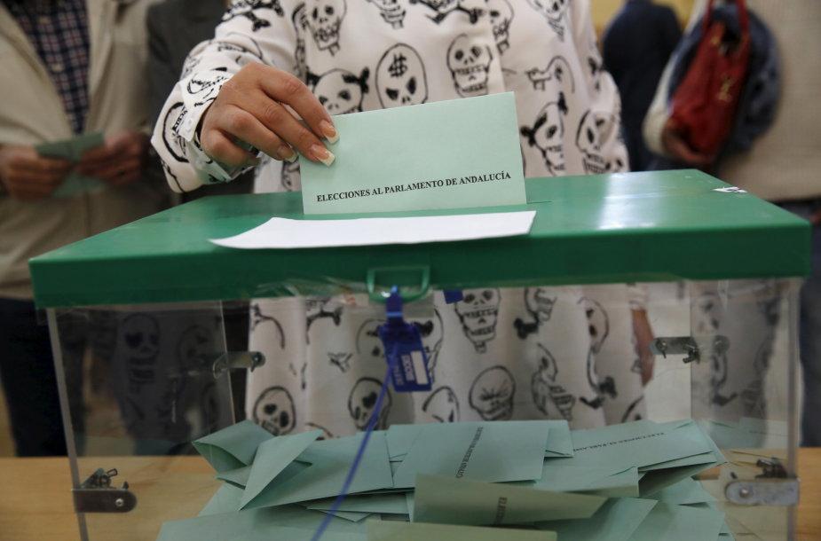 Andalūzijoje vyksta rinkimai.