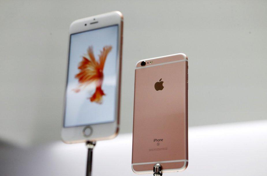 """""""iPhone"""" nuo šiol bus galima rinktis ir iš naujo aukso spalvos atspalvio"""