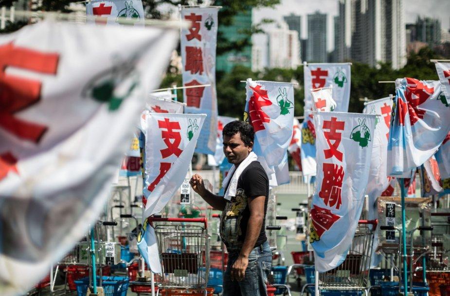 Tiananmenio aikštėje vyko 1989 m. protestuotojų žudynių minėjimas