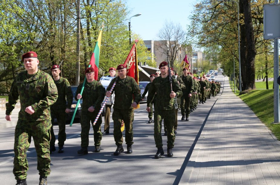 Raseinių mieste atkurta karių savanorių kuopa