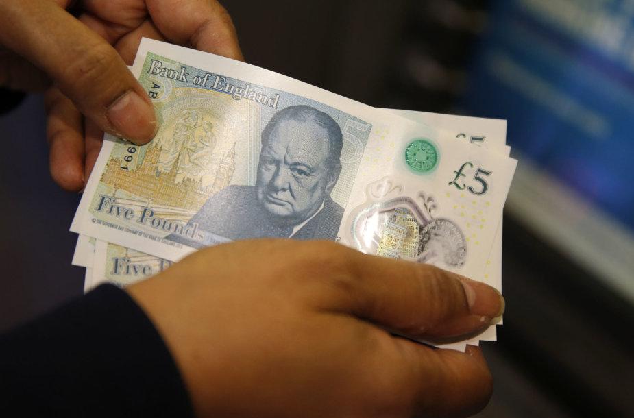 5 svarų sterlingų banknotai