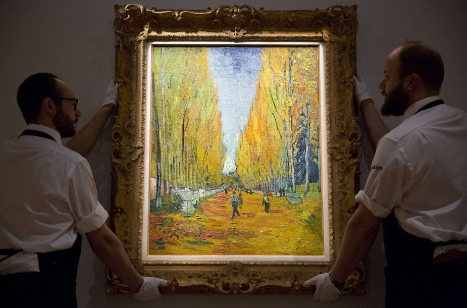 """Vincento van Gogho paveikslas """"Les Alyscamps"""""""