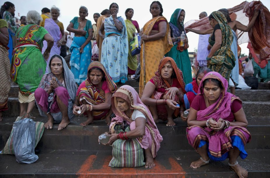 Kumbh Mela religinis festivalis Indijoje