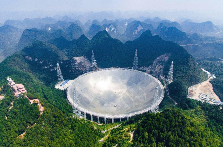 Kinijoje pradėjo veikti didžiausias pasaulyje radioteleskopas.
