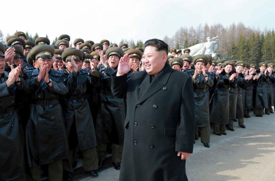 Šiaurės Korėjos lyderis Kim Jong Unas
