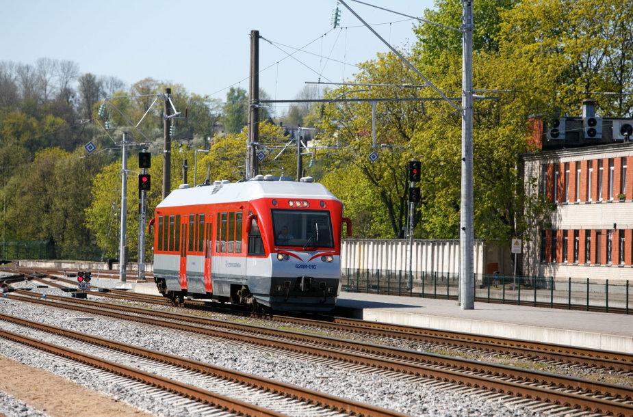 Kauno traukinių stotyje