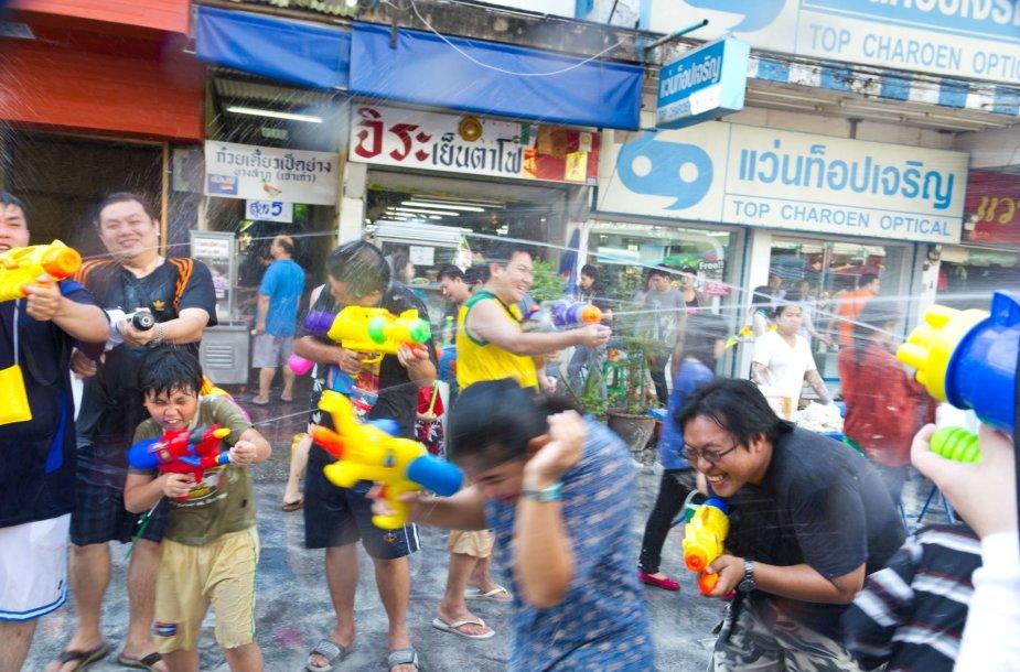 Songkrano festivalis Tailande
