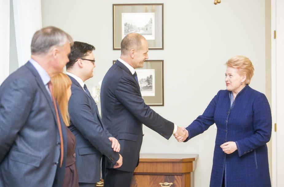 Dalia Grybauskaitė  susitiko su akademine bendruomene