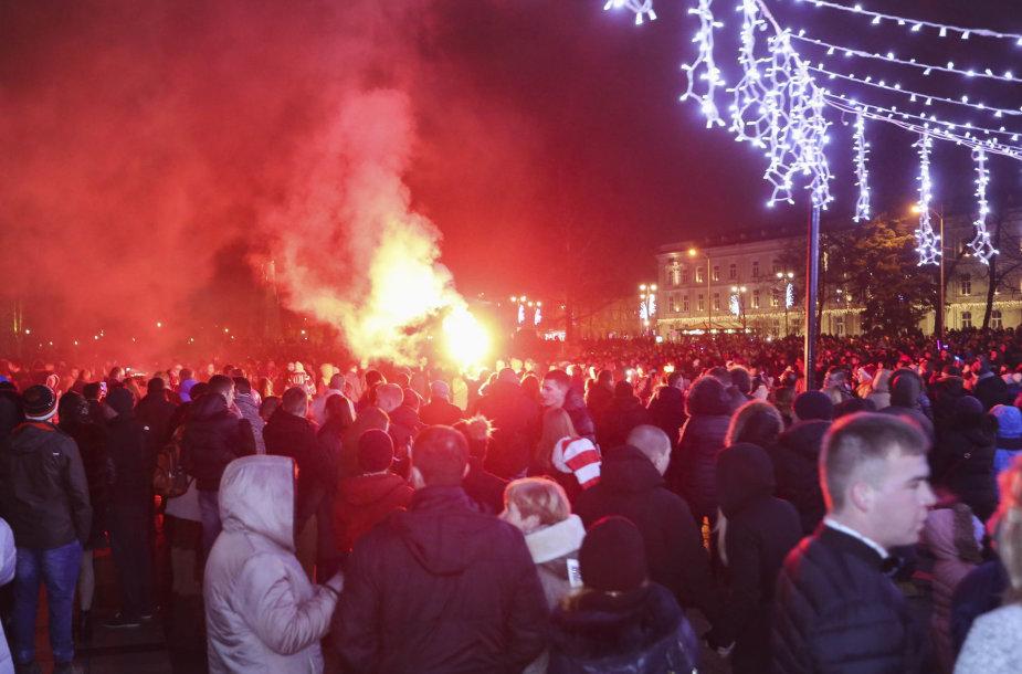 Naujųjų metų sutiktuvės Vilniaus centre