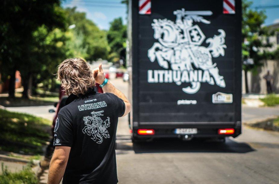 Benedikto Vanago komanda atvyko į Argentiną