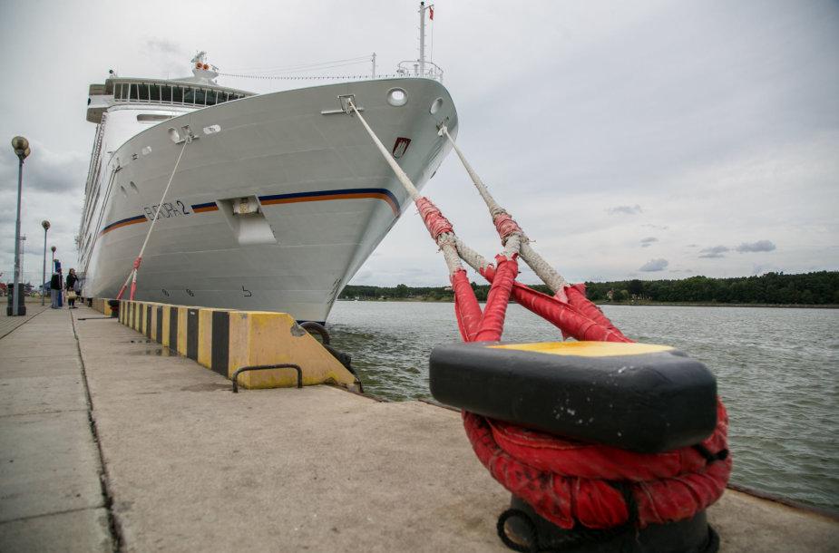 """Į Klaipėdą atplaukė prabangus laivas """"Europa 2"""""""
