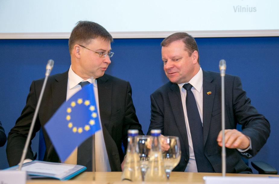Valdis Dombrovskis ir Saulius Skvernelis