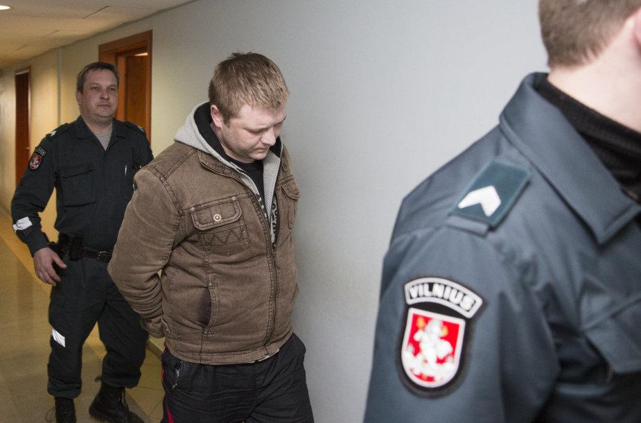 Įtariamųjų dėl nužudymo Fabijoniškėse suėmimas teisme