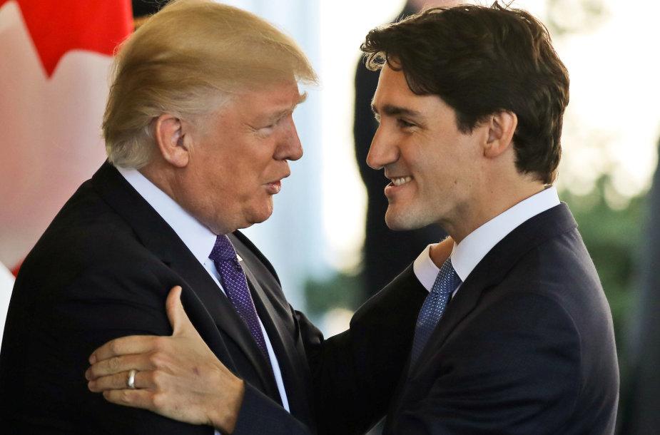 Justinas Trudeau ir Donaldas Trumpas
