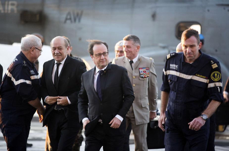 Francois Hollande'as atvyko į Siriją