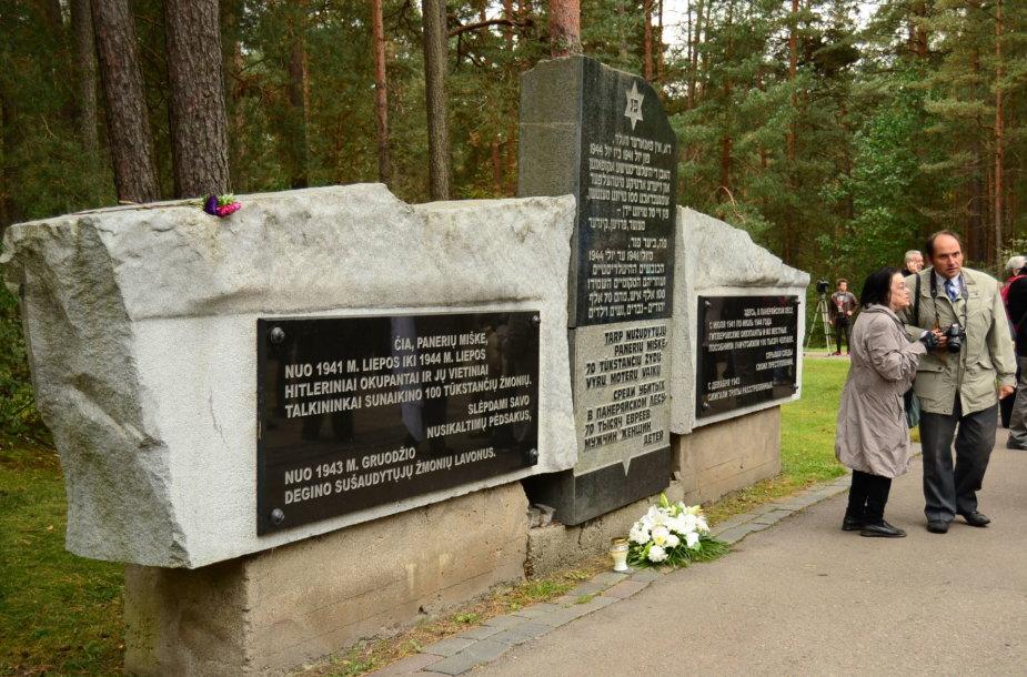 Lietuvos žydų genocido aukų pagerbimo ceremonija Panerių memoriale