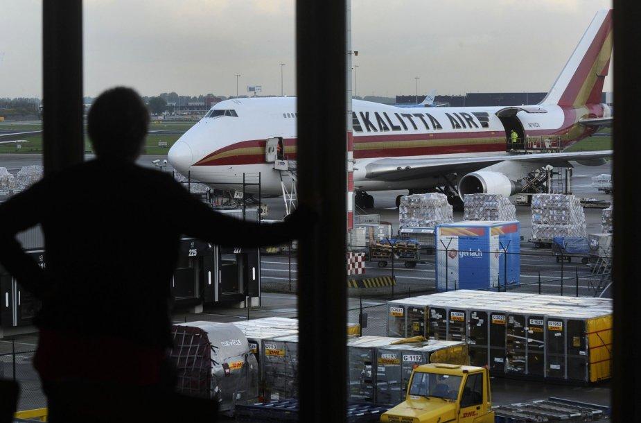 Amsterdamo oro uoste - elektros energijos sutrikimai.