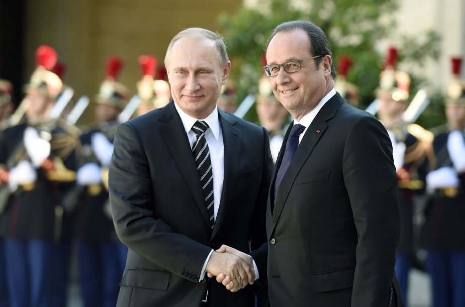 V.Putinas ir F.Hollande'as