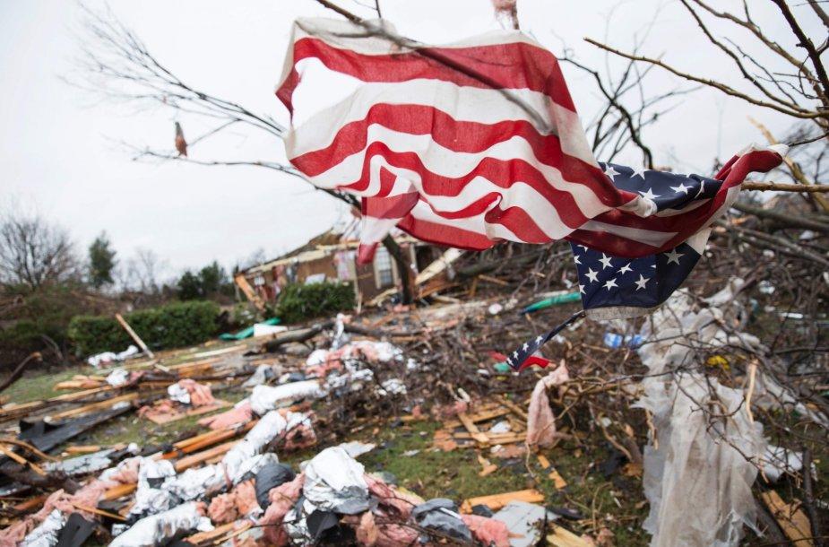 Tornado Teksase padariniai