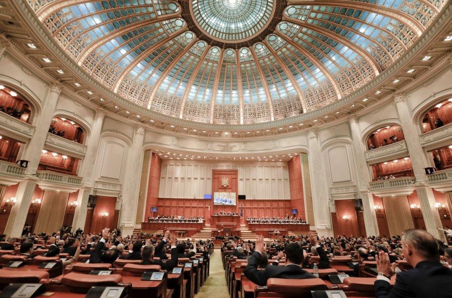 Balsavimas Rumunijos parlamente