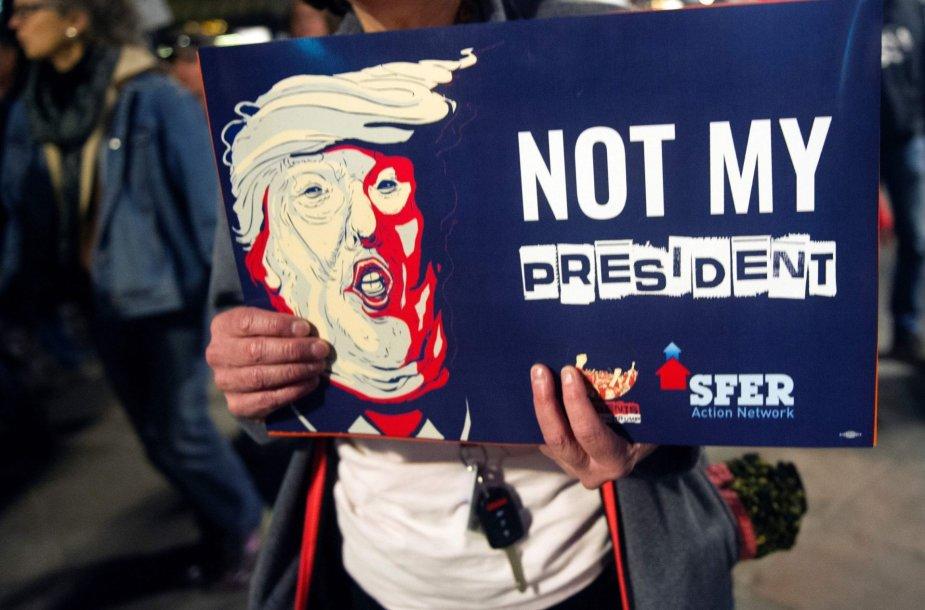 Protestai prieš Donaldą Trumpą JAV