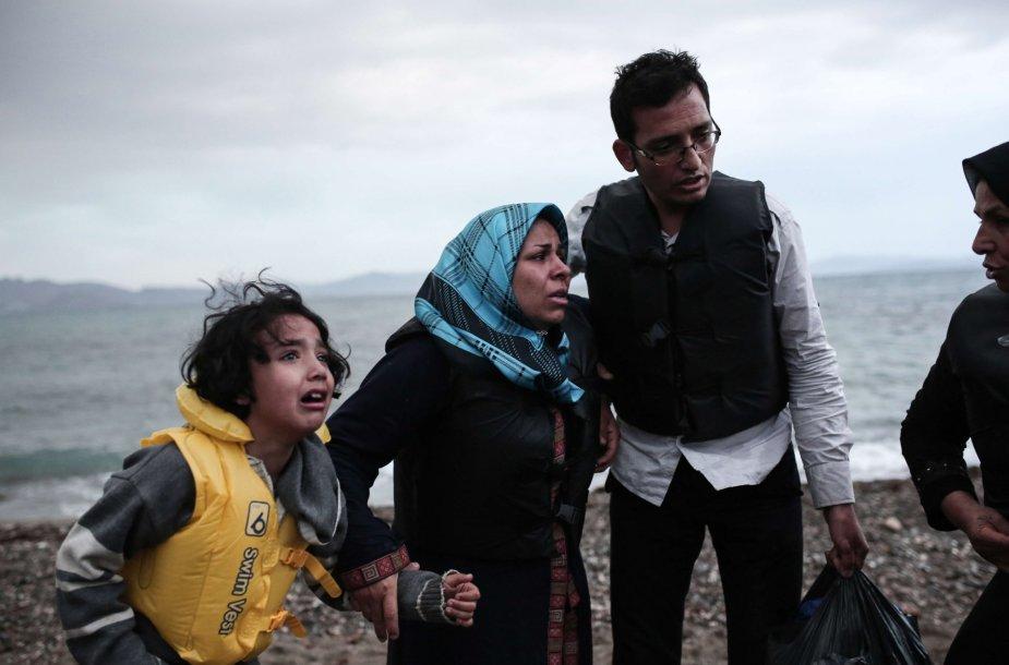Graikijos Koso saloje išsilaipinę pabėgeliai iš Afganistano ir Sirijos
