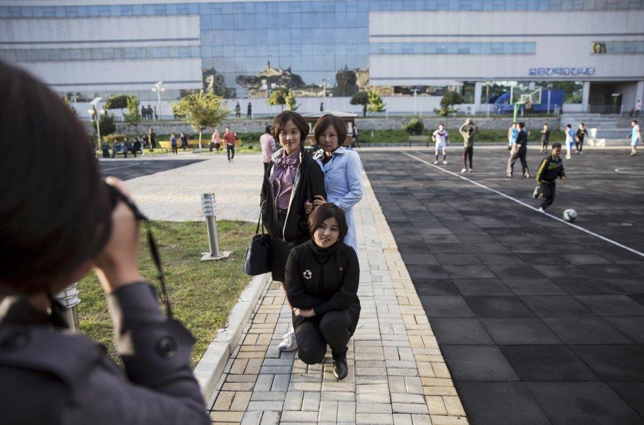 Šiaurės Korėjos sostinės kintanti ekonomika