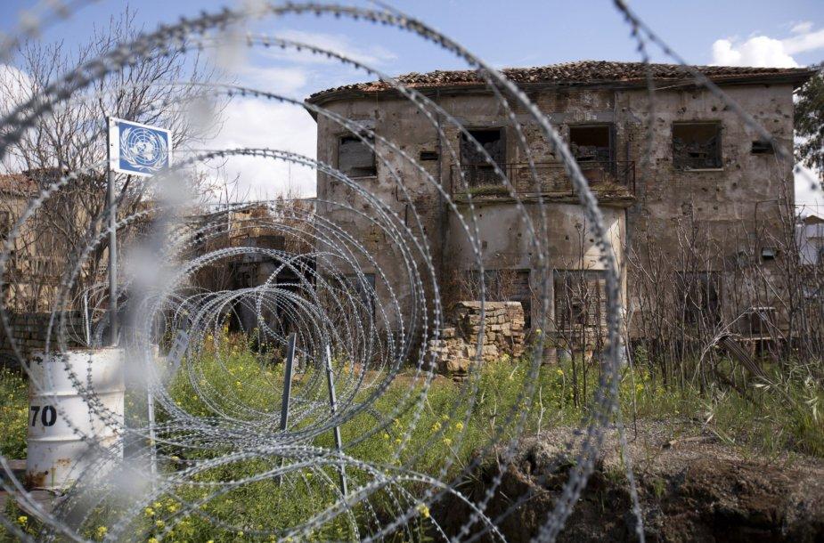 Jungtinių tautų numatyta buferinė zona tarp Kipro ir Turkijos valdomų salos pusių