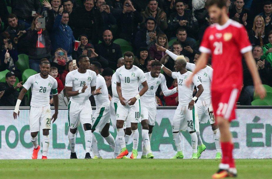 Rusijos futbolo rinktinė pralaimėjo afrikiečiams
