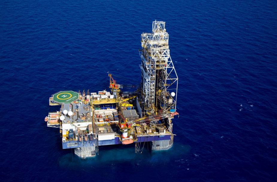 Gamtinių dujų telkinys netoli Izraelio krantų