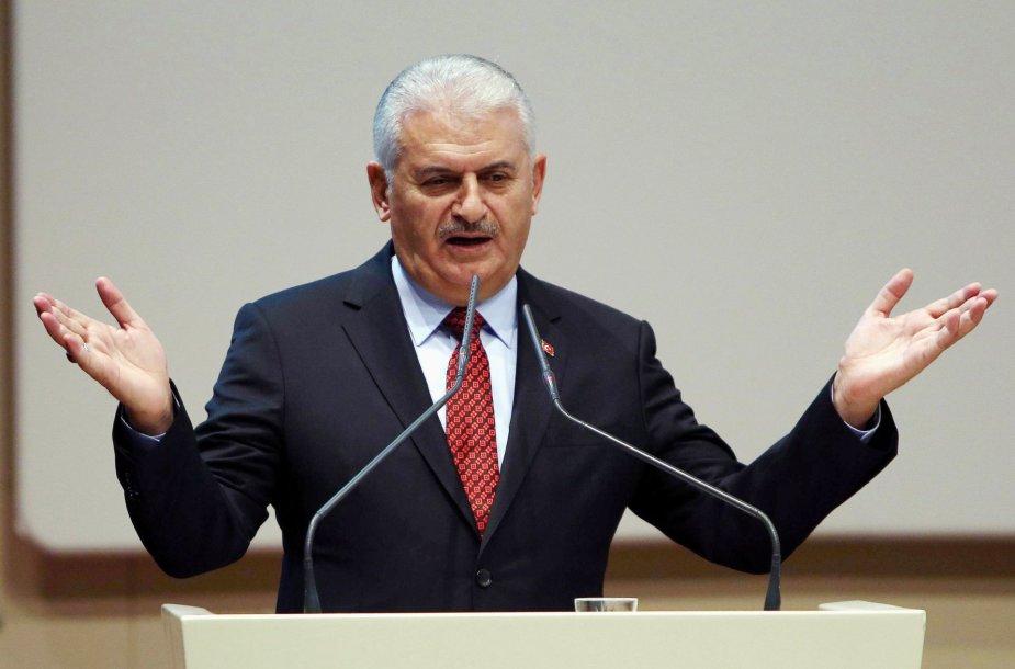 Turkijos premjeras Binali Yildirimas