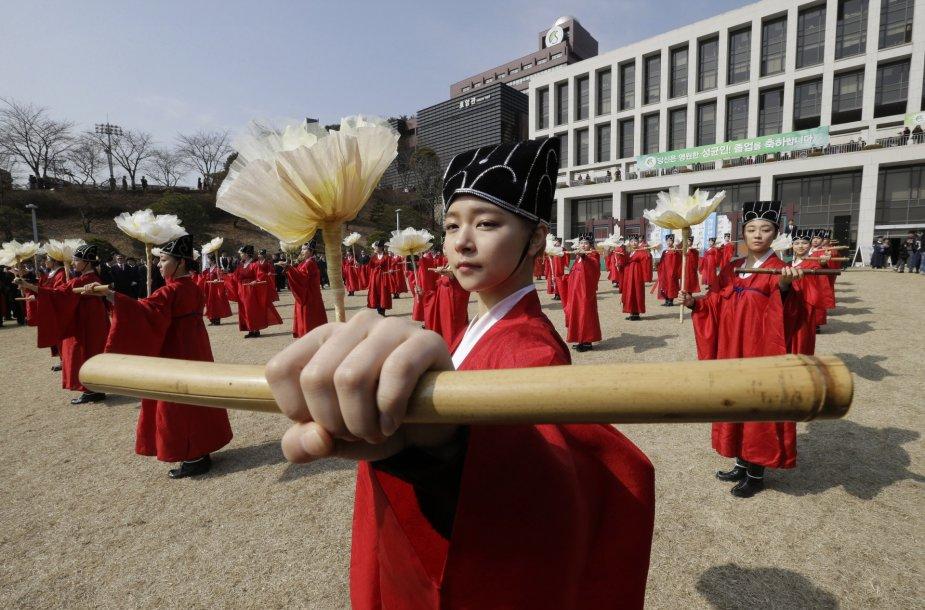 Iškilminga ceremonija Pietų Korėjoje.