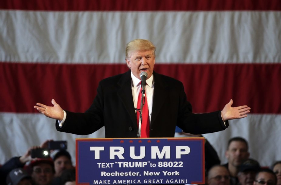 Donaldo Trumpo agitacinis renginys Niujorke