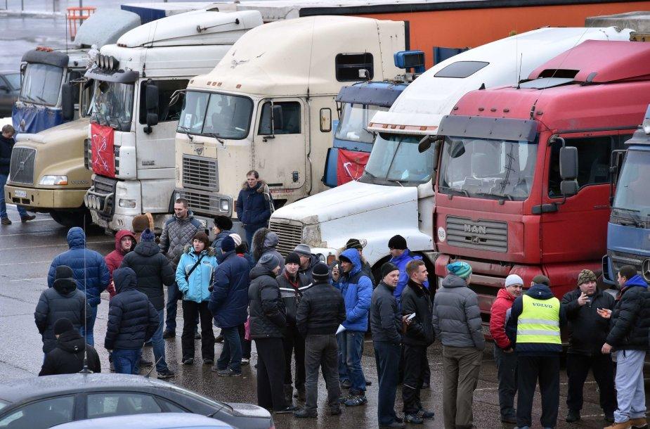 Sunkvežimių vairuotojų protestai Maskvos regione